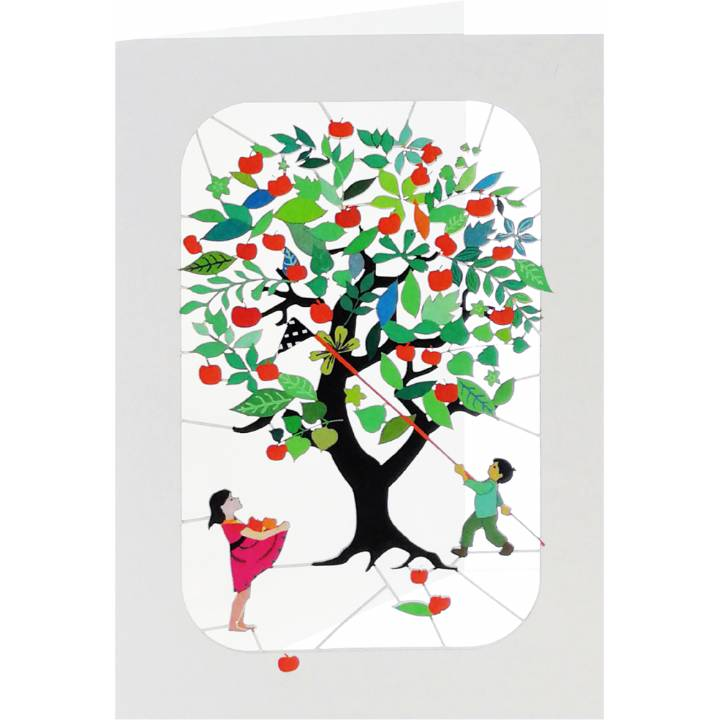 Kids under apple tree (6 Pack)
