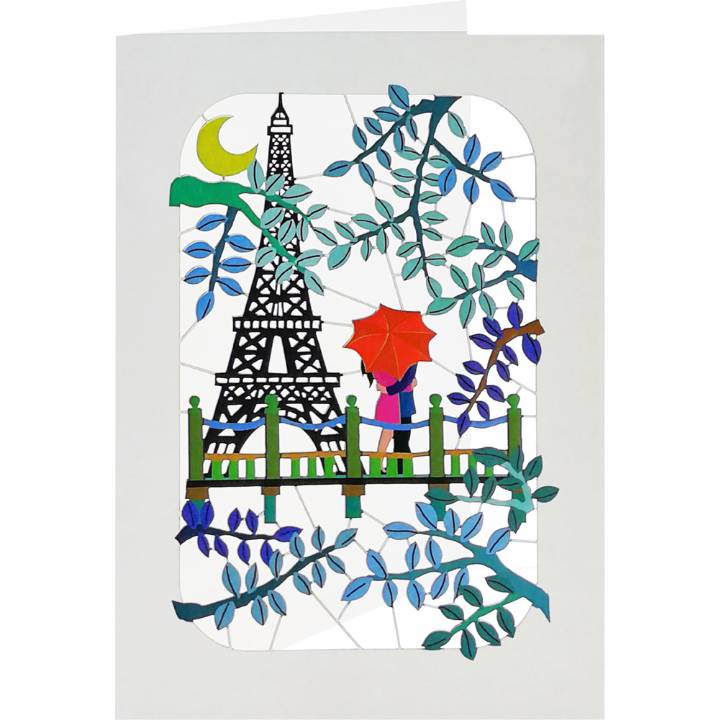 eiffel tower couple in love (6 Pack)