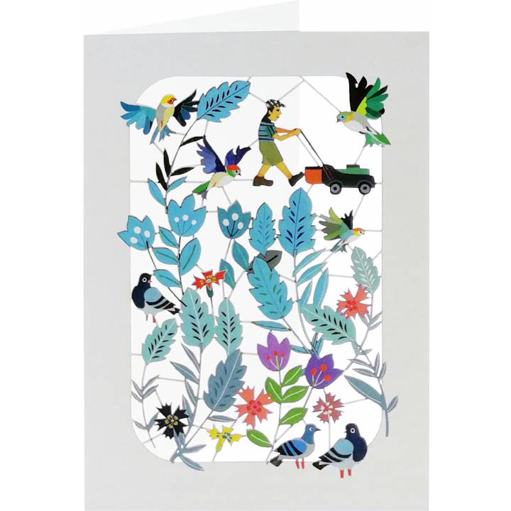 Gardener, birds and flowers (6 Pack)