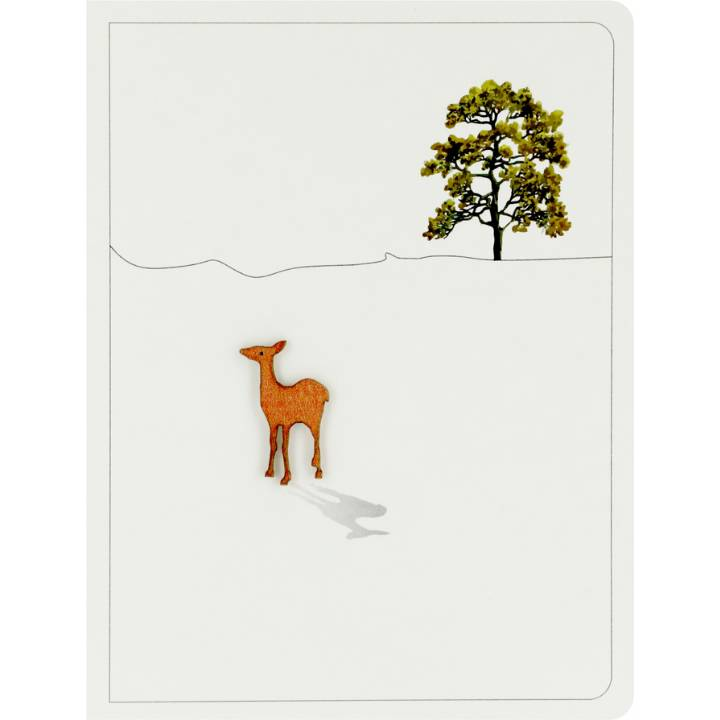 Deer + leafy oak (pack of 6)