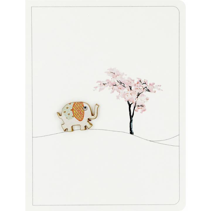 Elephant & blossom tree (pack of 6)