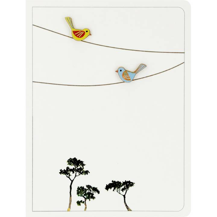 2 birds on wires (pack of 6)