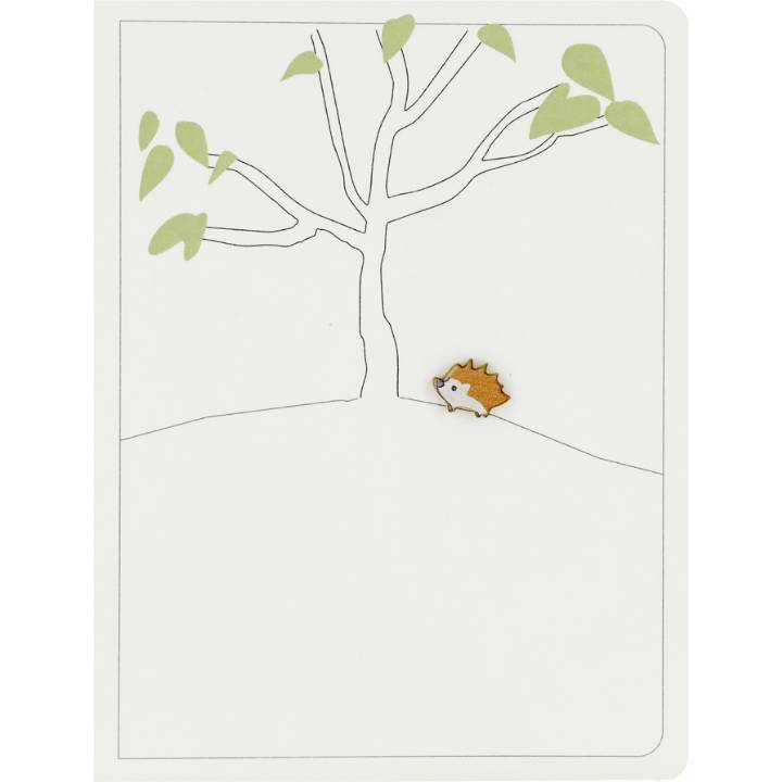 Hedgehog & big tree (pack of 6)