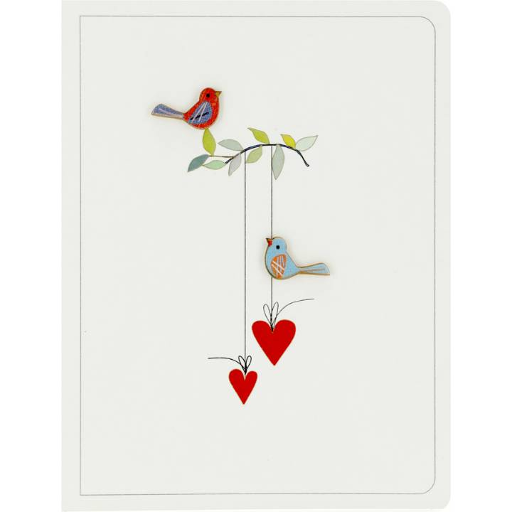2 birds & 2 hearts (pack of 6)