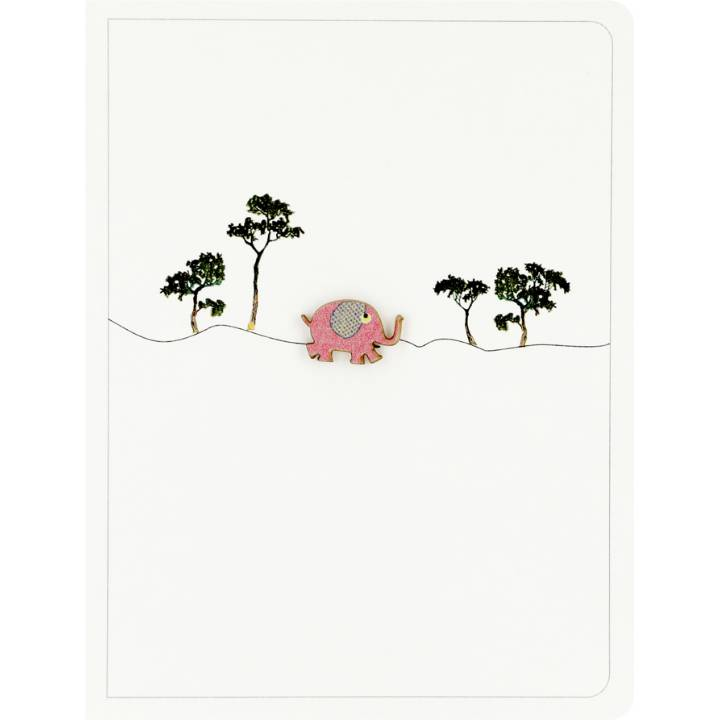 Tiny elephant & trees (pack of 6)