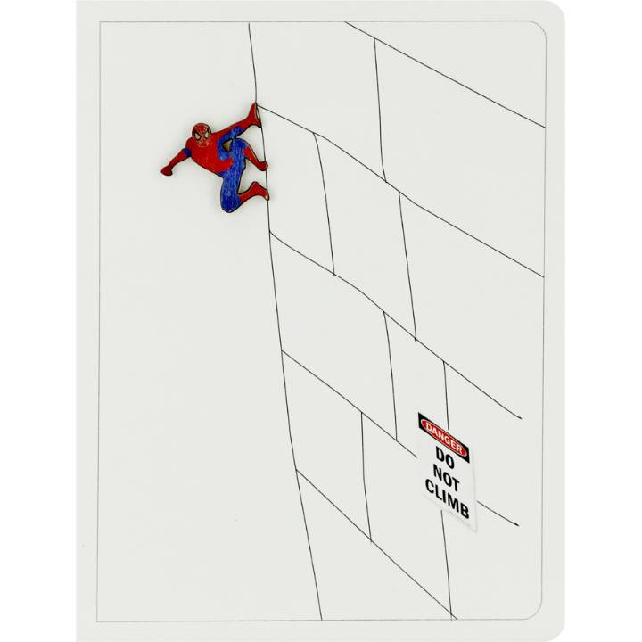 Superhero 'Do not climb' (pack of 6)