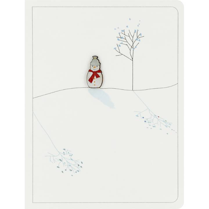 Snowman & tree (pack of 6)