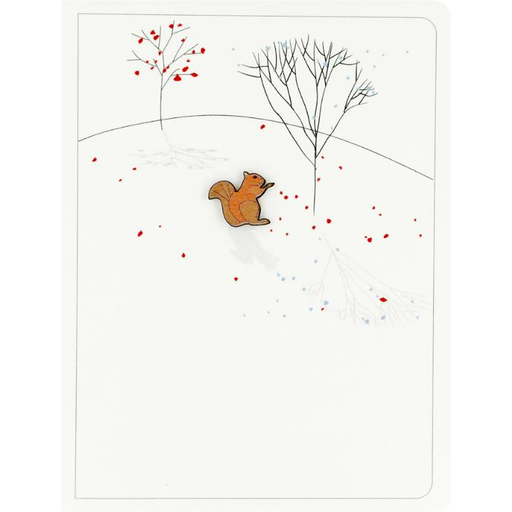 Red squirrel & trees (pack of 6)