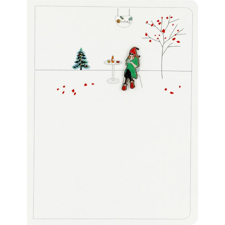 Elf with a phone (pack of 6)