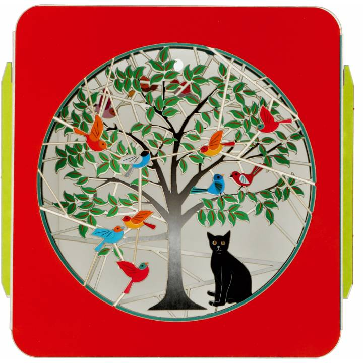 Art Box - Cat under tree (Pack of 6)