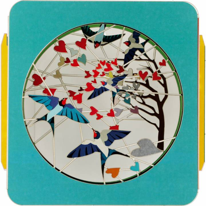 Art Box - Birds and tree of hearts (Pack of 6)